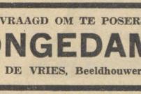 19590324 Nieuwsblad van het Noorden - Jongedame