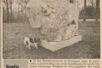 19820325 Nieuwsblad van het Noorden- Wisent naar Noorderplantsoen